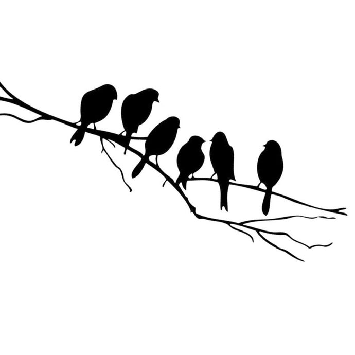 Black Bird Tree Branch Wall Art