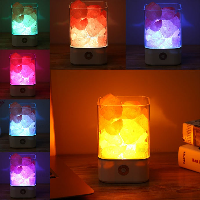Crystal Light Natural Himalayan Salt Lamp Air Purifier Mood Creator