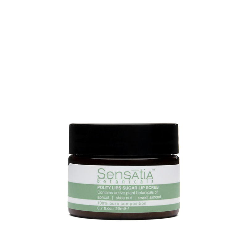 Sensatia Botanicals Pouty Lips Sugar Lip Scrub - The Lemon Tree Apothecary
