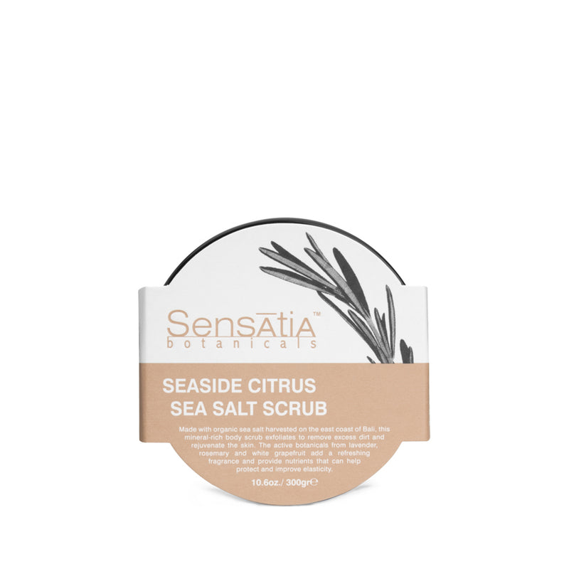 Sensatia Botanicals Seaside Citrus Salt Body Scrub - The Lemon Tree Apothecary