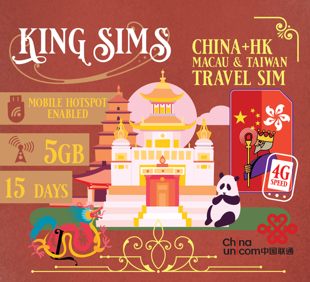 China & Hong Kong Travel Sim Card | 5GB Data | 15 Days | Data Only