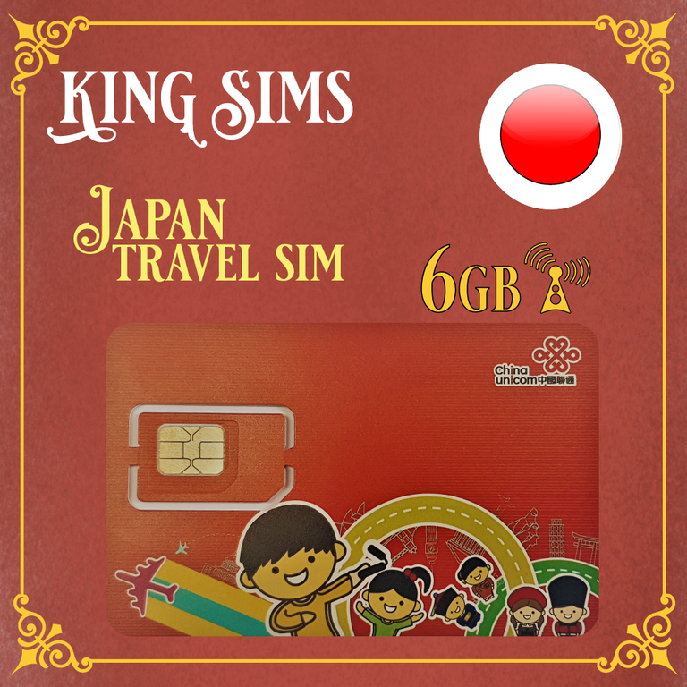 Japan 4G Travel Sim Card | 6GB Data | 15 Days - SoftBank Network