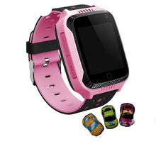 Load image into Gallery viewer, GPS tracker kids watch Smart GPS watches Camera Flashlight SOS Call Location Baby clock Children watches Q528 2G data SIM card