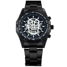 Load image into Gallery viewer, Black Stainless Steel Strap Mechanical Watch