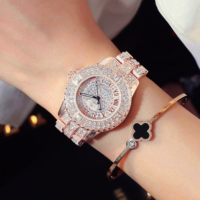 Diamond  Rhinestone Bracelet Watch