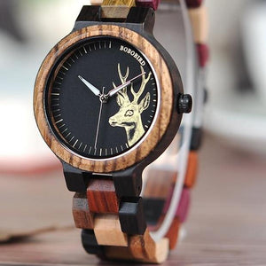 Engraving Wooden  Watch