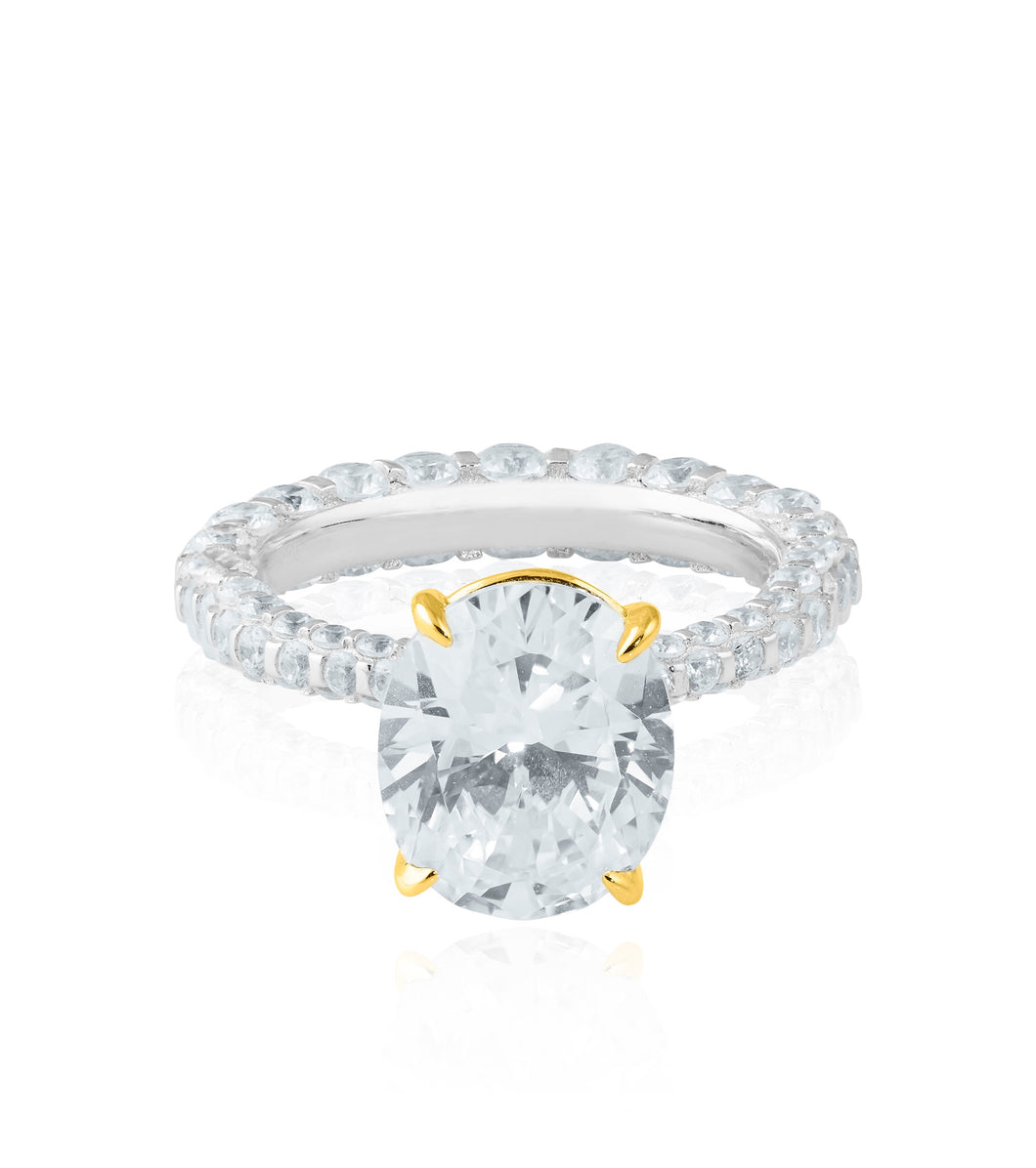 The Oval Solitaire Ring