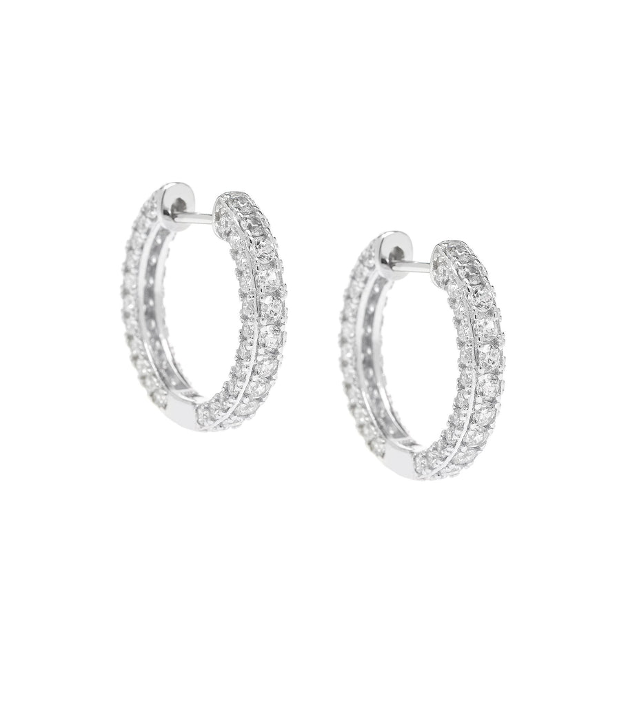 CZ Stripe Hoop Earrings