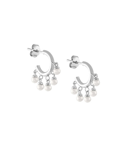 Mini Pearl Shaker Hoops
