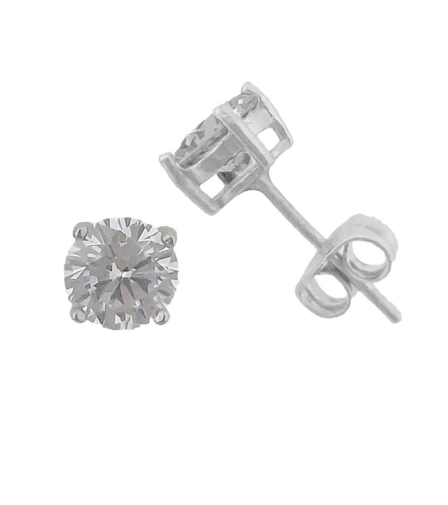 Solitaire Earrings 6MM