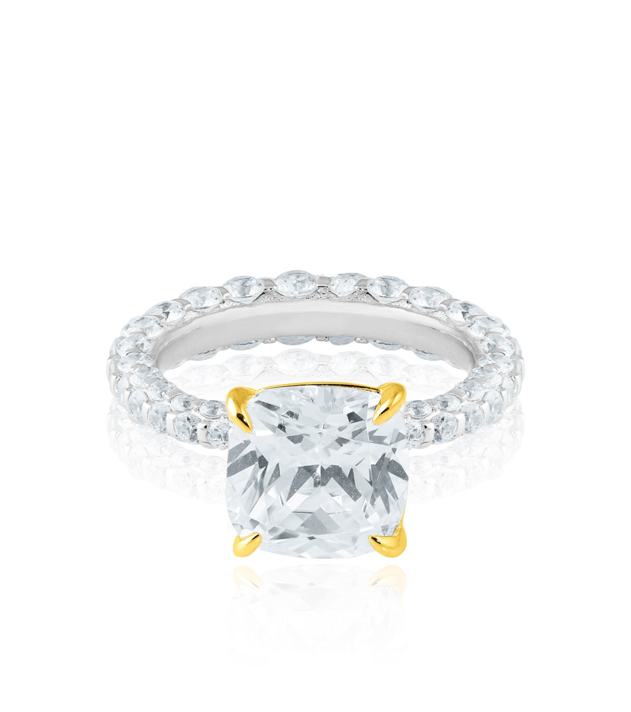 The Square Solitaire Ring