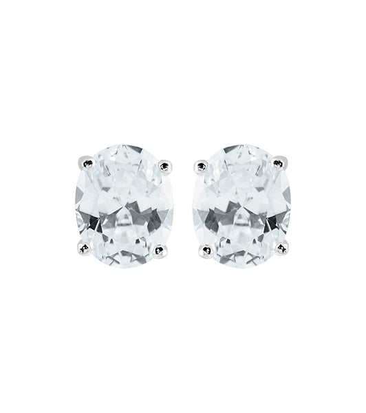 Oval Solitaire Studs