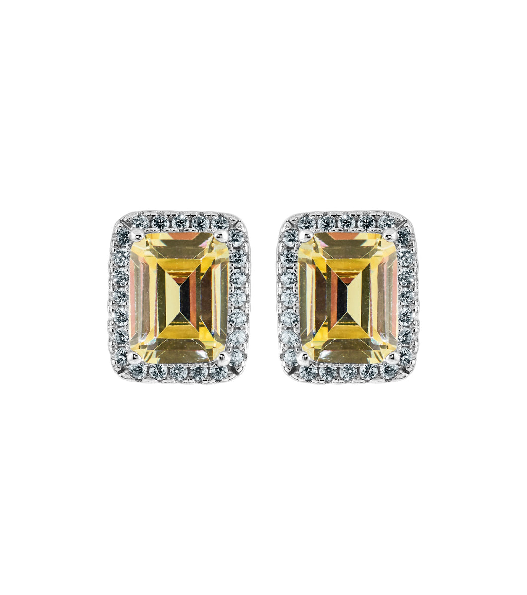 Canary Baguette Studs