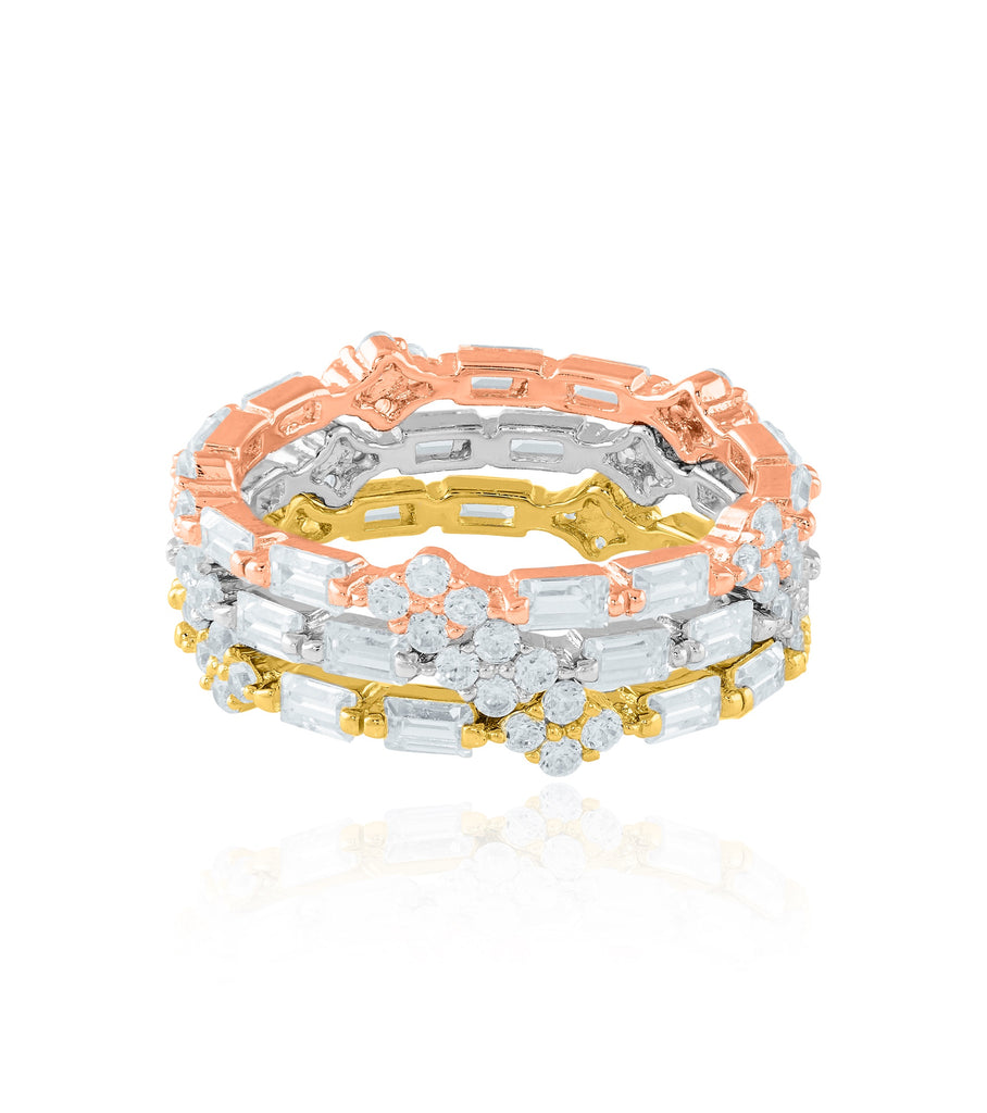 Three Bands Stacking Ring