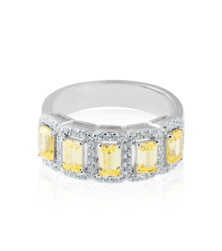 Canary Half Eternity Band