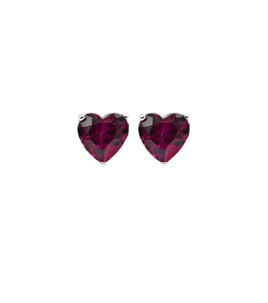 Red Heart CZ Stud