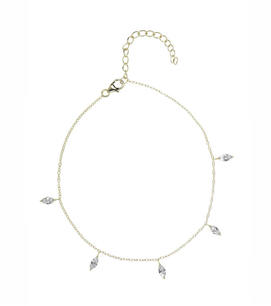 Marquise Charms Anklet