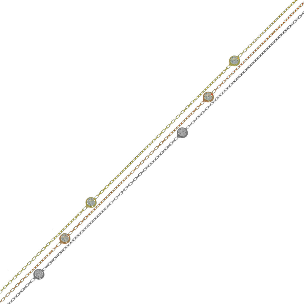 3 Line Multi Plating Anklet