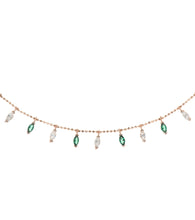 Load image into Gallery viewer, Colored Marquise Charms Necklace