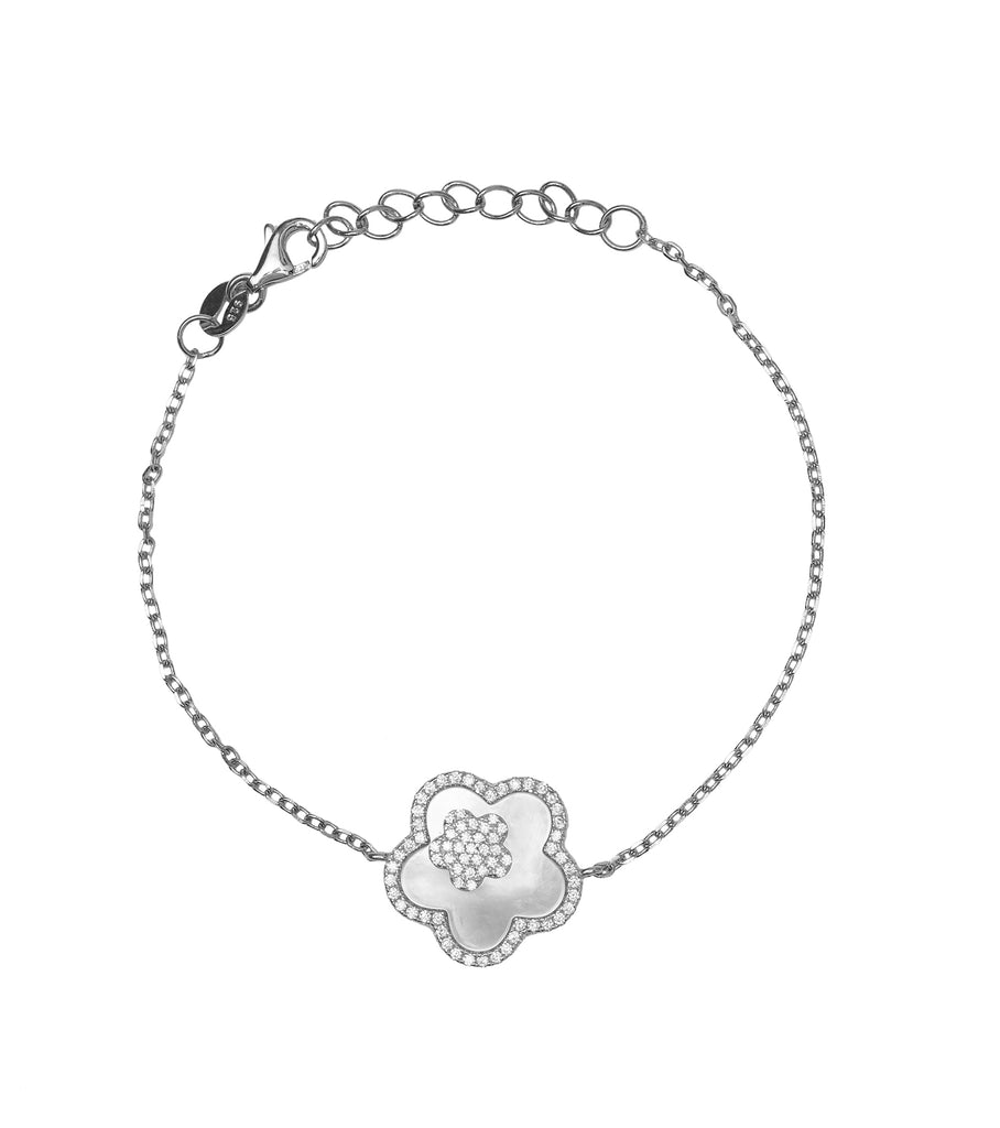 Flower Mother of Pearl Bracelet