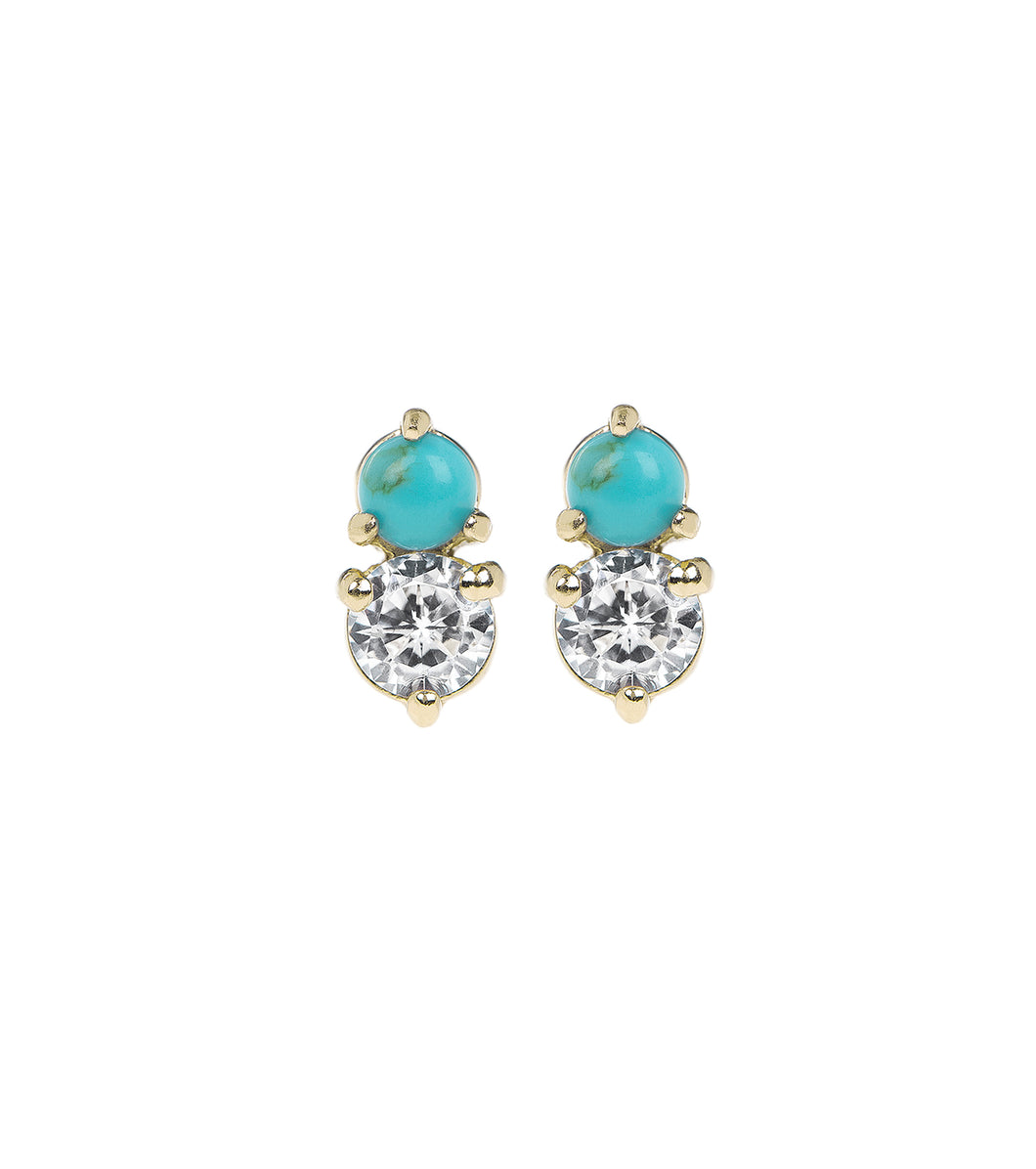 Turquoise Glittered Studs