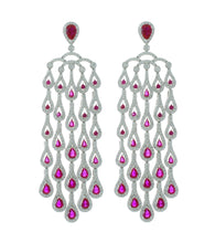 Load image into Gallery viewer, Colored Stone Dangle Earring