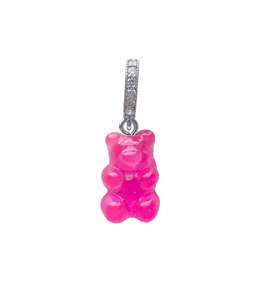 Jelly Hot Pink Gummy Bear Charm