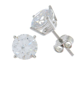 Solitaire Stud Earrings 7MM