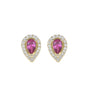 Colored Drops Stud Earrings