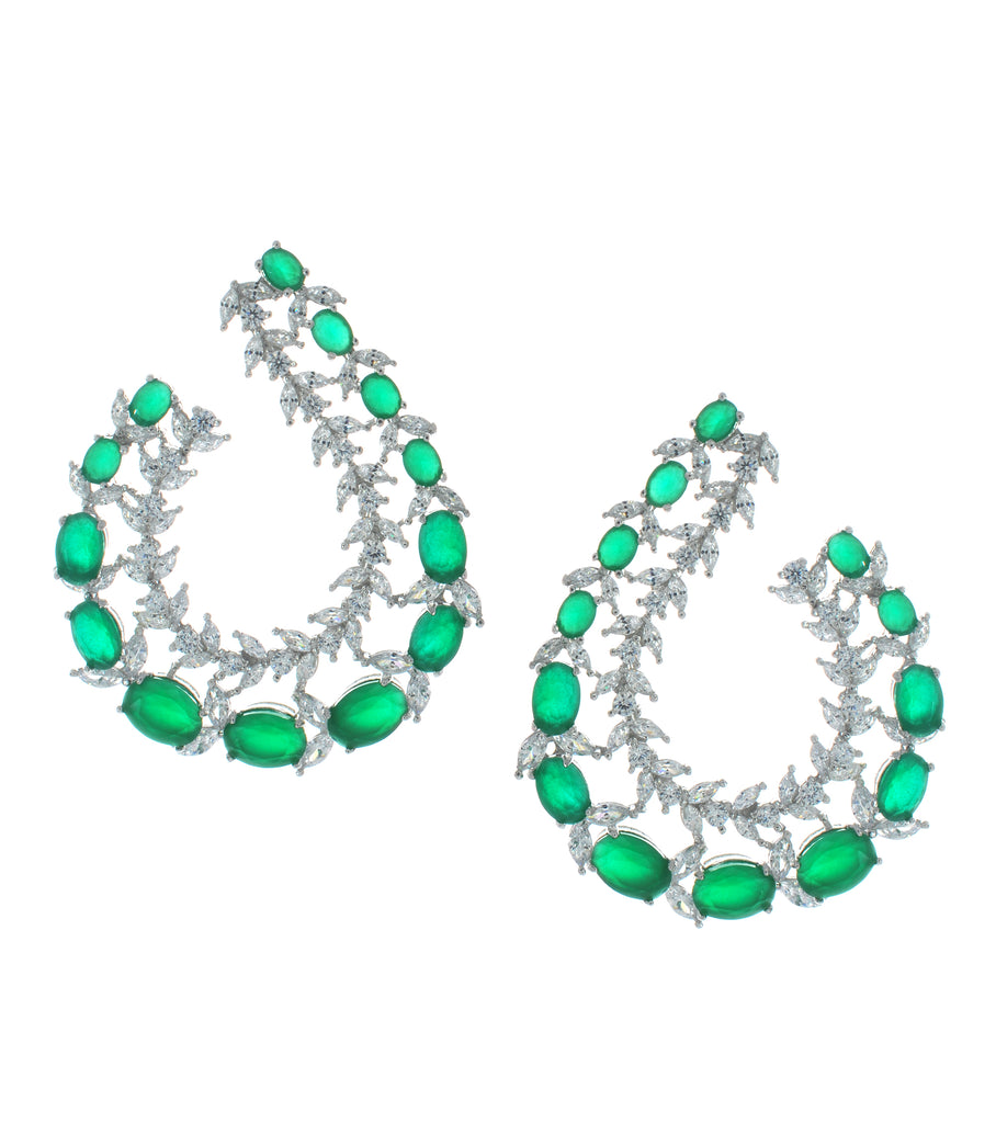Maxi Colored CZ Garland Earrings