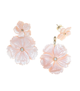 Mother of Pearl Flower Ear Jacket