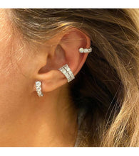 Load image into Gallery viewer, 2 Rows Graduated Ear Cuff
