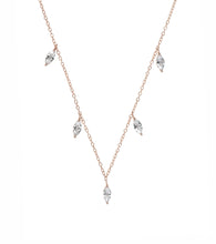 Load image into Gallery viewer, Marquise Charms Choker