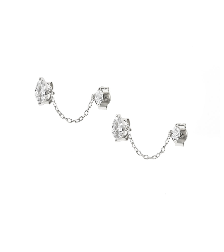 Marquise Chain Link Studs