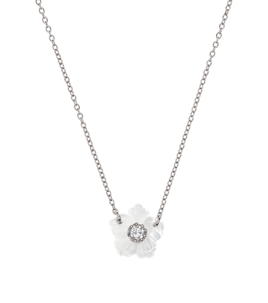 Flower White Necklace