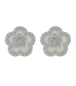 Flower MOP Stud Earring