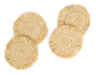 Fringed Coasters