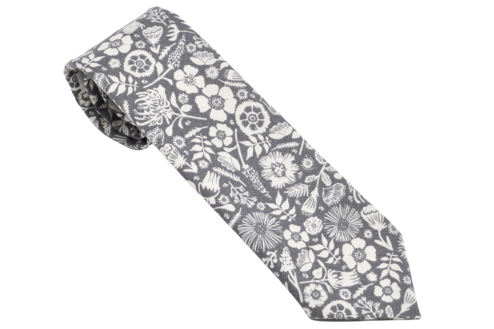 Earl Grey Blossoms Tie - Momako Designs