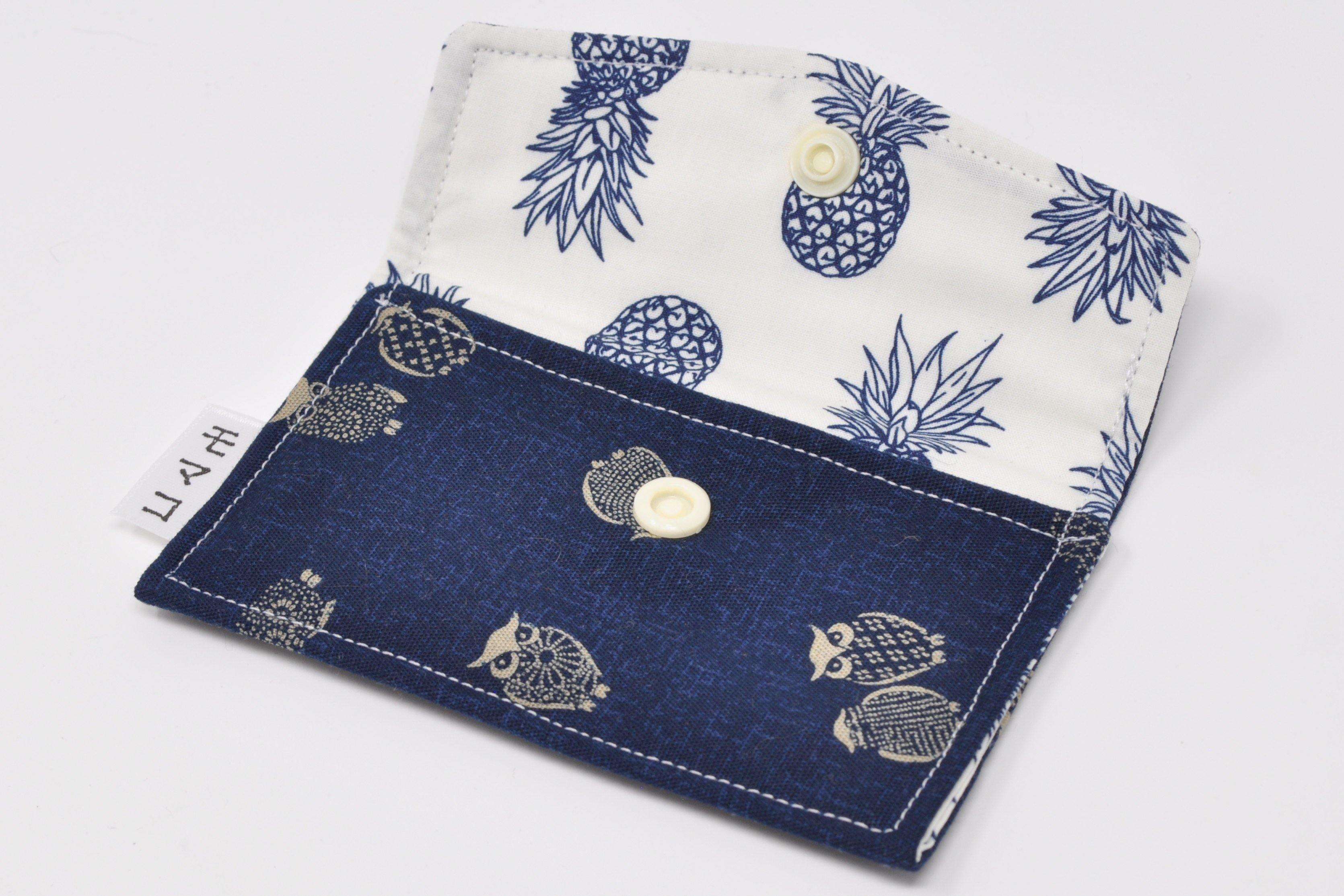 Whom? Blues Card Holder - Momako Designs