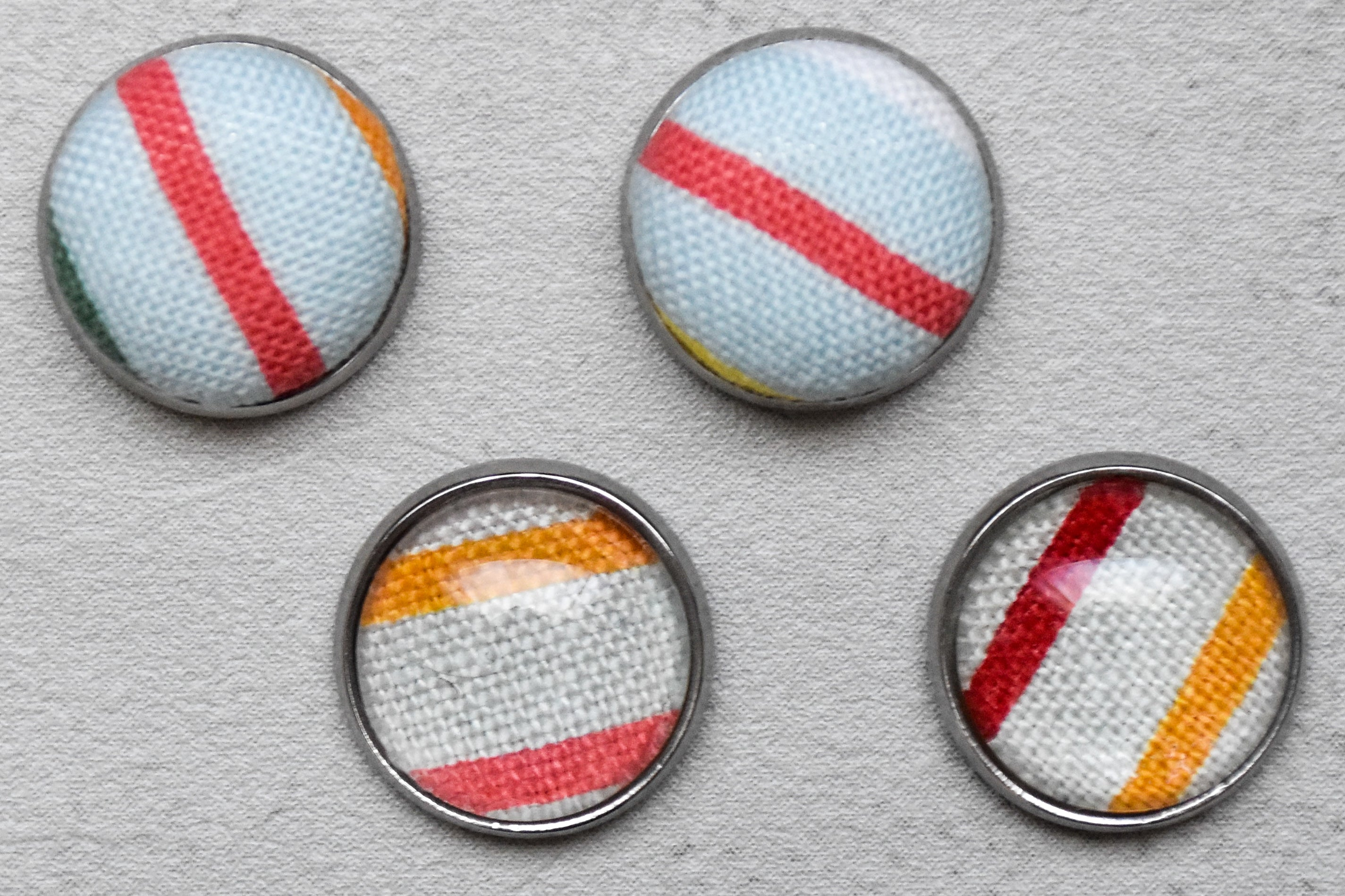Fruit Stripes 20mm Lapel Pin - Momako Designs