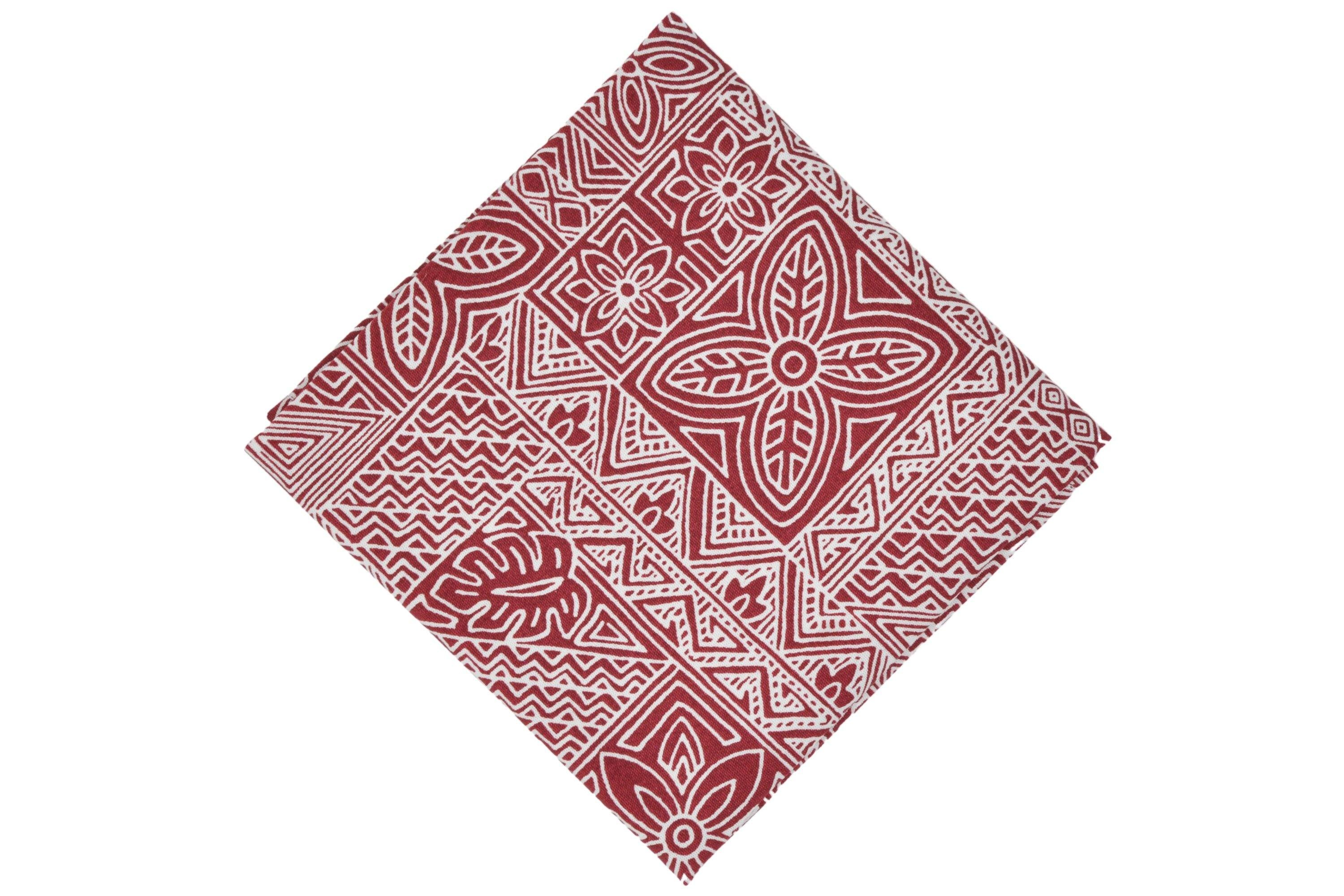 Red Dirt Shirt Pocket Square - Momako Designs