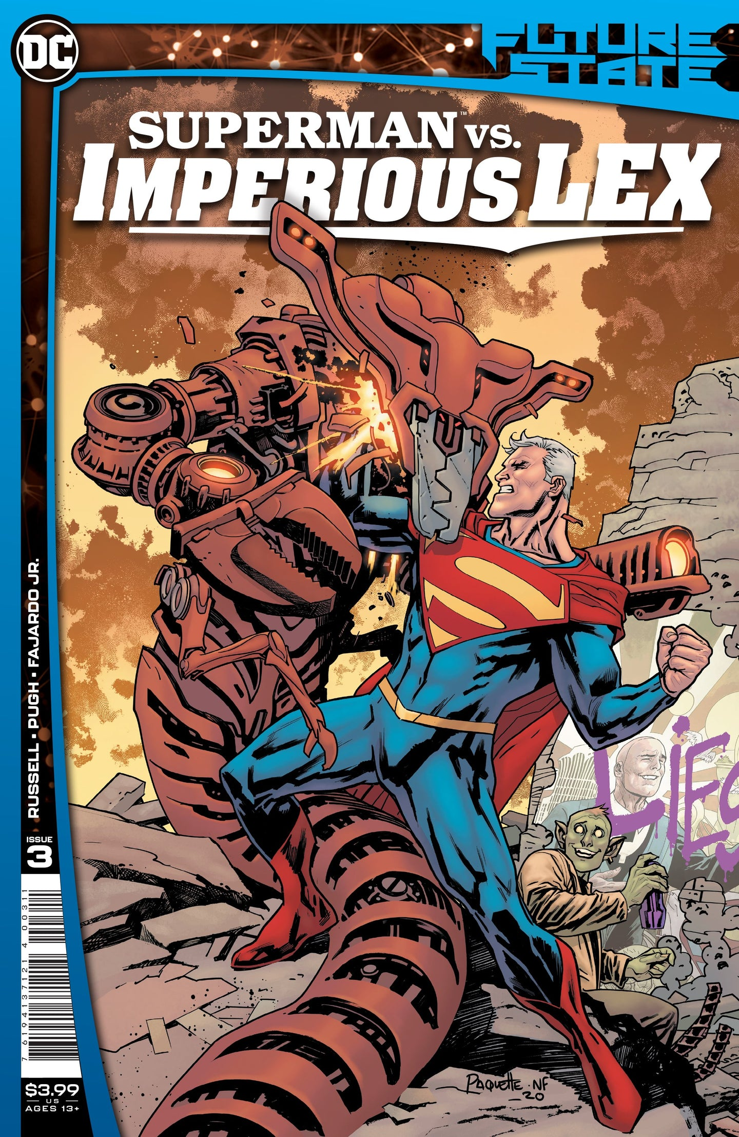 FUTURE STATE SUPERMAN VS IMPERIOUS LEX #3 (OF 3) CVR A YANICK PAQUETTE - Linebreakers