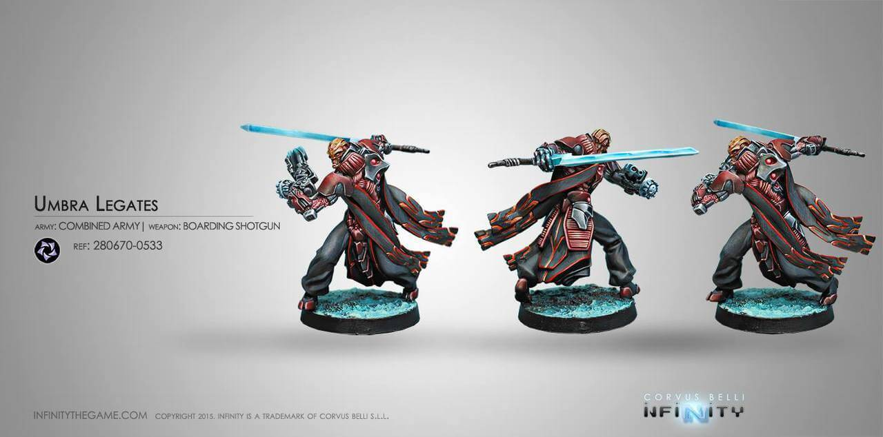 Infinity: Combined Army Umbra Legates (Boarding Shotgun) - Linebreakers