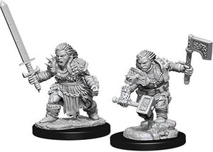 Pathfinder Deep Cuts Unpainted Miniatures: W8 Dwarf Female Barbarian - Linebreakers