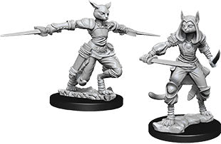 Dungeons & Dragons Nolzur`s Marvelous Unpainted Miniatures: W9 Female Tabaxi Rogue - Linebreakers