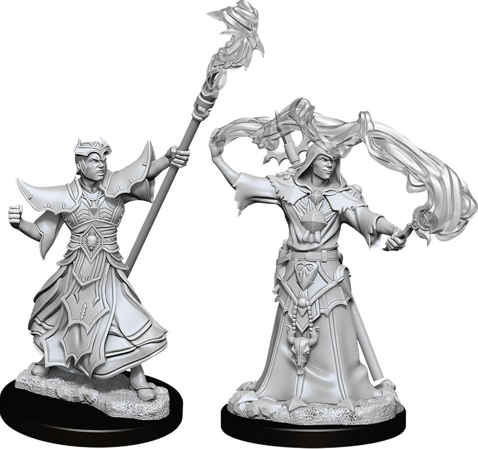 Pathfinder Deep Cuts Unpainted Miniatures: W11 Male Human Sorcerer - Linebreakers
