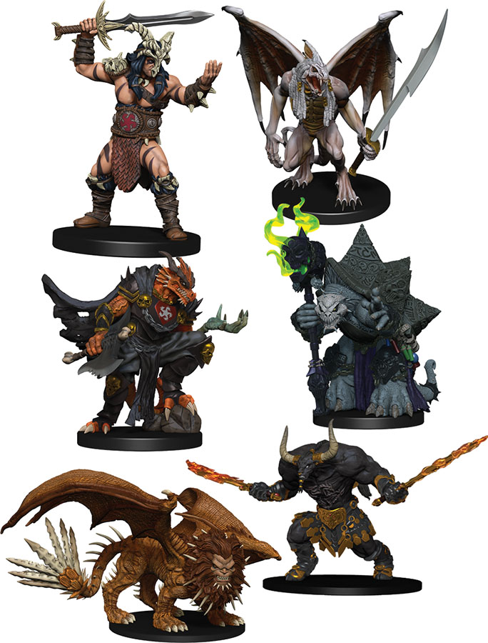 Dungeons & Dragons Fantasy Miniatures: Icons of the Realms Figure Pack - Descent into Avernus - Arkhan the Cruel and the Dark Order