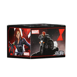 MARVEL HEROCLIX BLACK WIDOW MOVIE WITH MOTORCYCLE