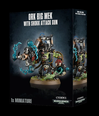 WARHAMMER 40K ORK BIG MEK WITH SHOCK ATTACK GUN
