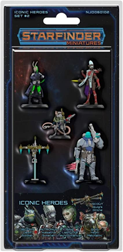 STARFINDER MINIATURES ICONIC HEROES SET 2